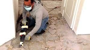 remove ceramic tile from concrete