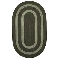 home decorators collection paige olive 5 ft x 8 ft braided oval area rug