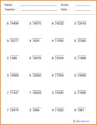 Math worksheets grade 3 knowing photoshots division 5 for ...