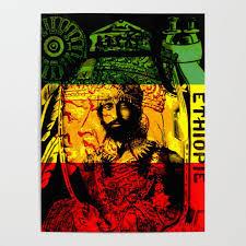 Haile Selassie Lion Of Judah Poster By Rasta