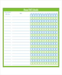 Bill Calendar Template Amazing Printable Bill Payment Schedule Tomburmoorddinerco