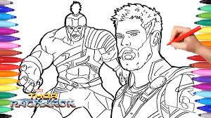 Thor Ragnarok And Hulk Coloring Pages How To Draw Hulk And Thor