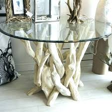 table bases for glass top driftwood dining table base driftwood dining table base tables with glass
