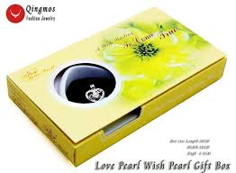 details about wish pearl 17mm heart pendant chokers women necklace love pearl oyster chain box