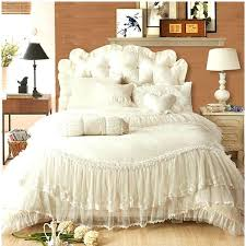 ivory duvet covers queen free beige pink red purple ruffle lace wedding jacquard satin bedding