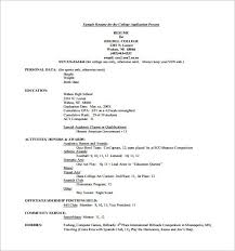 Sample College Application Resumes College Application Resume Examples Beautiful College Resume