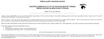 press alert sabercats stadium groundbreaking