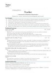 Resume Format Of Teacher Socialum Co
