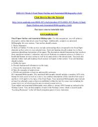 Research paper annotated bibliography  Examples