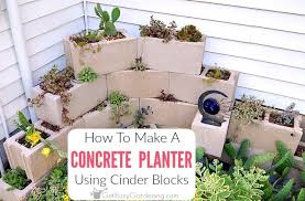 diy cinder block planter how to create