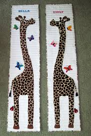 Giraffe Growth Charts I Made For My Twin Granddaughters