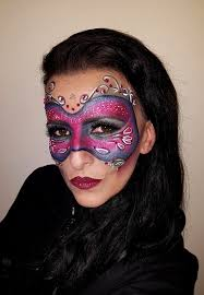 fuchsia purple carnival masquerade mask makeup magdalena mazur make up artist drogheda ireland