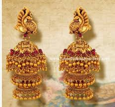 Long Heavy Earrings Design Pin By Sruthi On Earings Gold Jhumka Earrings Gold