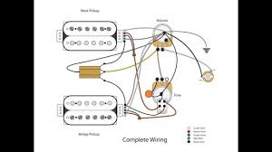 dual humbucker w 1 vol and 1 tone youtube 2 Humbucker 1 Volume Wiring dual humbucker w 1 vol and 1 tone wiring diagram 2 humbucker 2 volume 1 tone