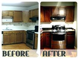 refinishing oak cabinets updating oak kitchen cabinets before and after staining oak kitchen cabinet oak cabinets