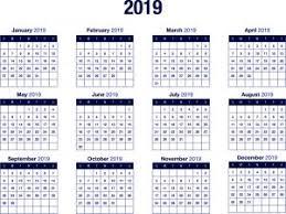 Vertex42 Calendar 2019 Printable 2019 Calendar Templates