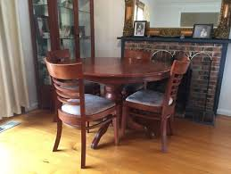 round table solid wood extendable 4 chairs