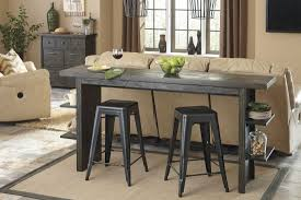 lamoille dark gray long counter height dining room set media gallery
