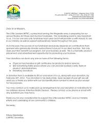 Donation Letter Samples Letter For Donations Baskets Fundraising Fundraising Letter