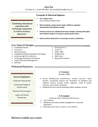 resume examples computer and free resume template mac electrical engineer  core classes and strengths professional -