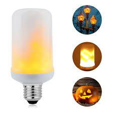 Flickering Fire Light Bulb Hot Item Led Dynamic Flame Effect Bulb 3 Modes Flickering Emulation Gravity Creative Fire Lights