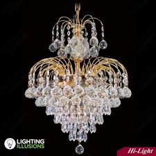 7 light 17 asfour lead crystal chrome waterfall chandelier w prisma and lighting illusions