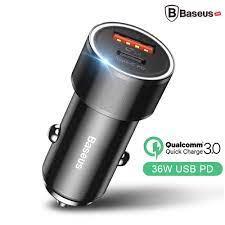 Bộ tẩu sạc nhanh đa năng dùng cho xe hơi Baseus 3.0, 2 cổng USB – Baseus  Việt Nam