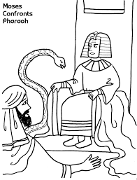 Small Picture Moses Confronts Pharaoh Coloring Sheet Wesleyan Kids