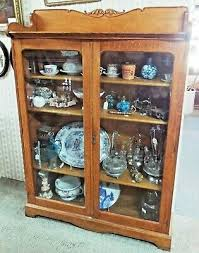 antique bookcase with glass doors
