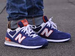 new balance blue. new balance 574: royal blue/orange blue i