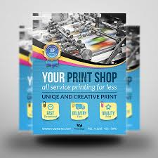 print shop advertising bundle template by owpictures graphicriver print shop advertising bundle template