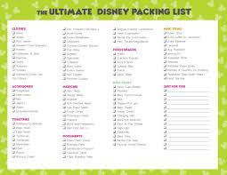 Free Disney Packing List Wdw Vacation Tips