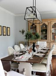 Farm Style Dining Room Tables Dining Room Mirror Ideas Rustic Pendant Light Over Table Dark Wood