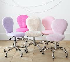 round upholstered desk chair chrome base pottery barn kids