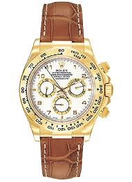 brand rolex collection cosmograph daytona model 116518 wal case material 18k yellow gold case diameter 40 0 mm dial white with arabic numerals
