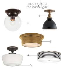 Flush Mount Kitchen Lighting Fixtures Upgrading The Boob Light Kitchen Sinks One By One And Change 3