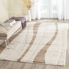 safavieh florida cream dark brown contemporary area rugs by arearugs