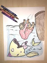 Jonah And The Whale Coloring Page Childrens Ministry Deals