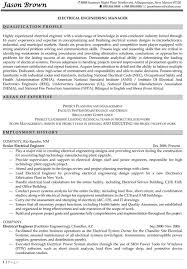Electrical Engineering Manager Engineering Manager Resume Example