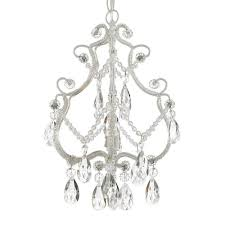 versailles 1 light iron and crystal white chandelier pendant