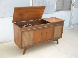 Vintage Interior Design With Mid Century Record Player Console