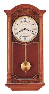 bulova chiming traditional wall clock