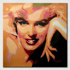 whole modern canvas art printed y marilyn monroe oil paintings with good quality for sofa walll