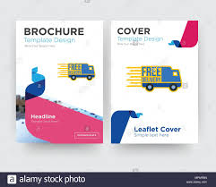 Brochure Template Design Free Free Delivery Brochure Flyer Design Template With Abstract