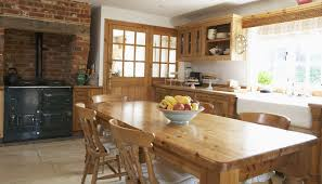 For Country Kitchen Kitchen Tranquil Traditional Country Kitchen Idea With Oak