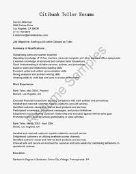Entry Level Bank Teller Resume Example with Nice Work Experience ...