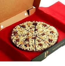 a crunchy munchy chocolate pizza 5 sizes
