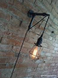 plug in industrial lighting. Edison Sconce - Industrial Furniture Bulb Cage Wall Plug In Lamp Lighting F