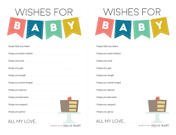 Wishes For Baby Template Wishes For Baby Free Baby Shower White Gold Glitter Activity Wishes