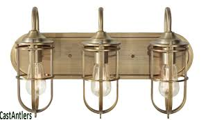 industrial bathroom lighting. industrial cage 3 light vanity available in 2 colors bronze bathroom lighting i